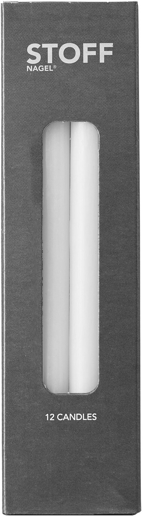 Taper Candles White, Stoff