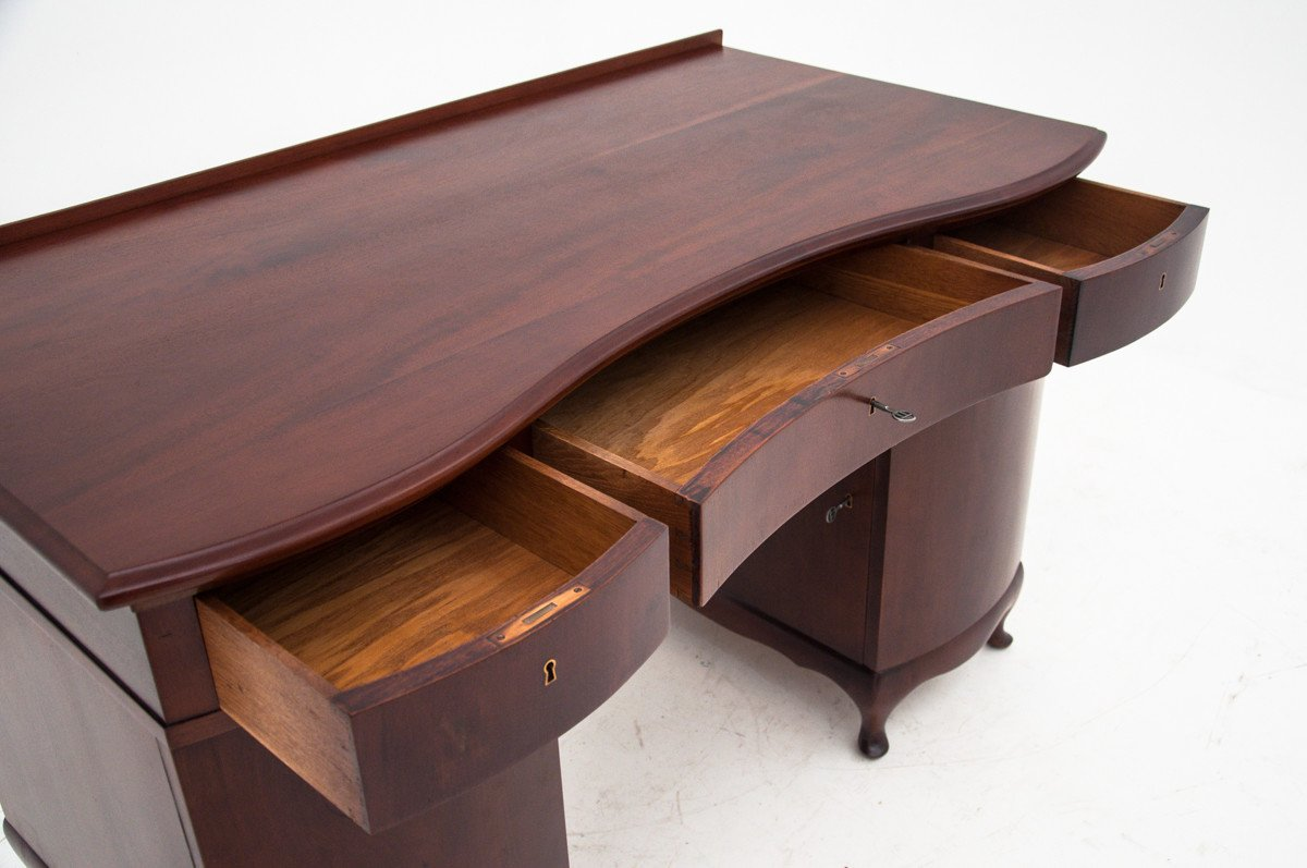 Mahogany Desk, turn of the 19th and 20th C.