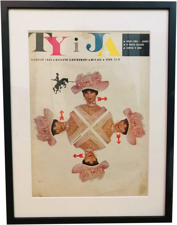 Cover of Ty i Ja Magazine by F. Starowieyski, Poland, 1960s