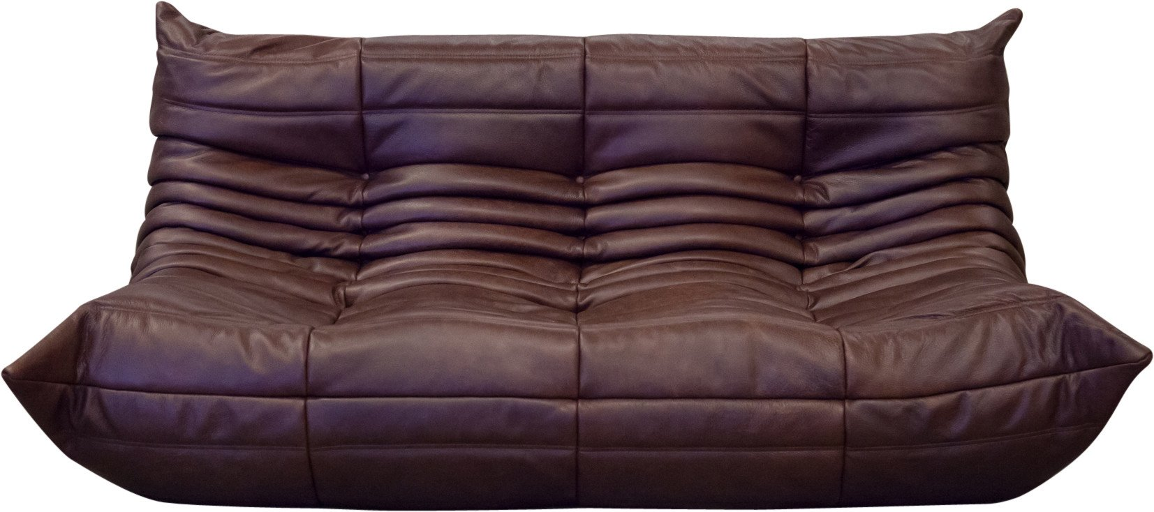 Togo sofa in Brown Leather by M. Ducaroy, Ligne Roset, France, 1970s