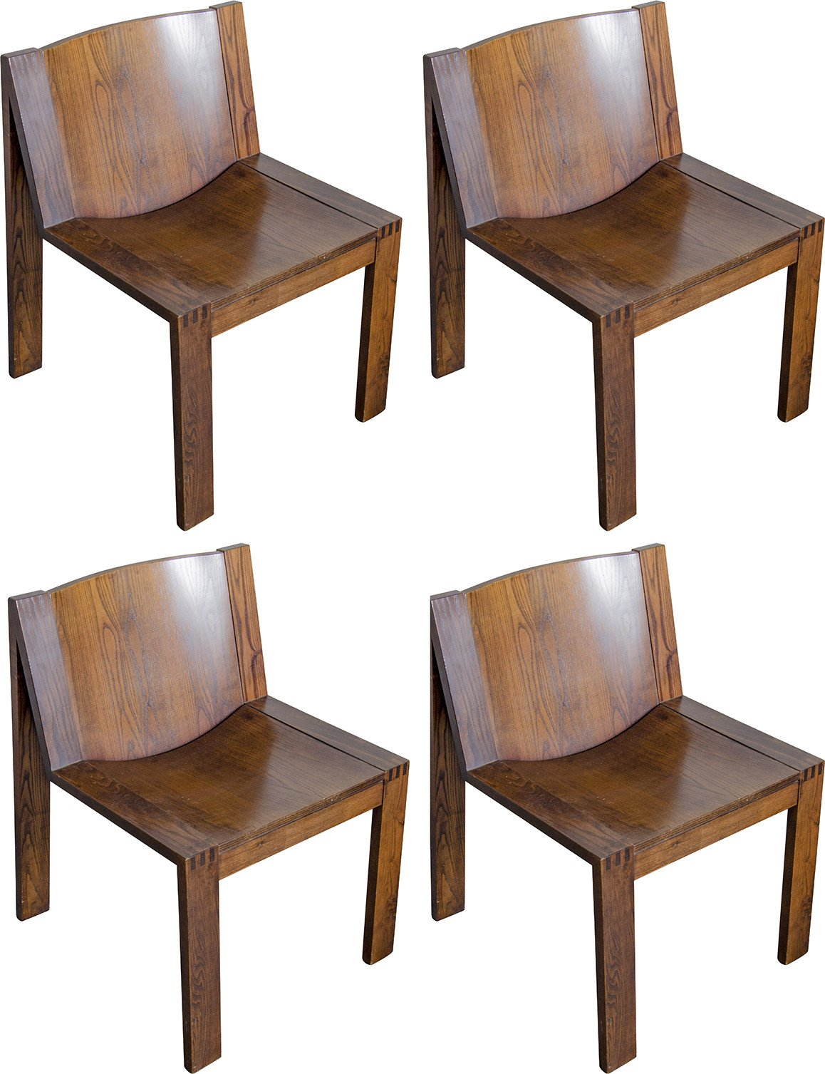 Set of Four Chairs by P. Mazairac and K. Boonzaaijer, Pastoe, 1970s