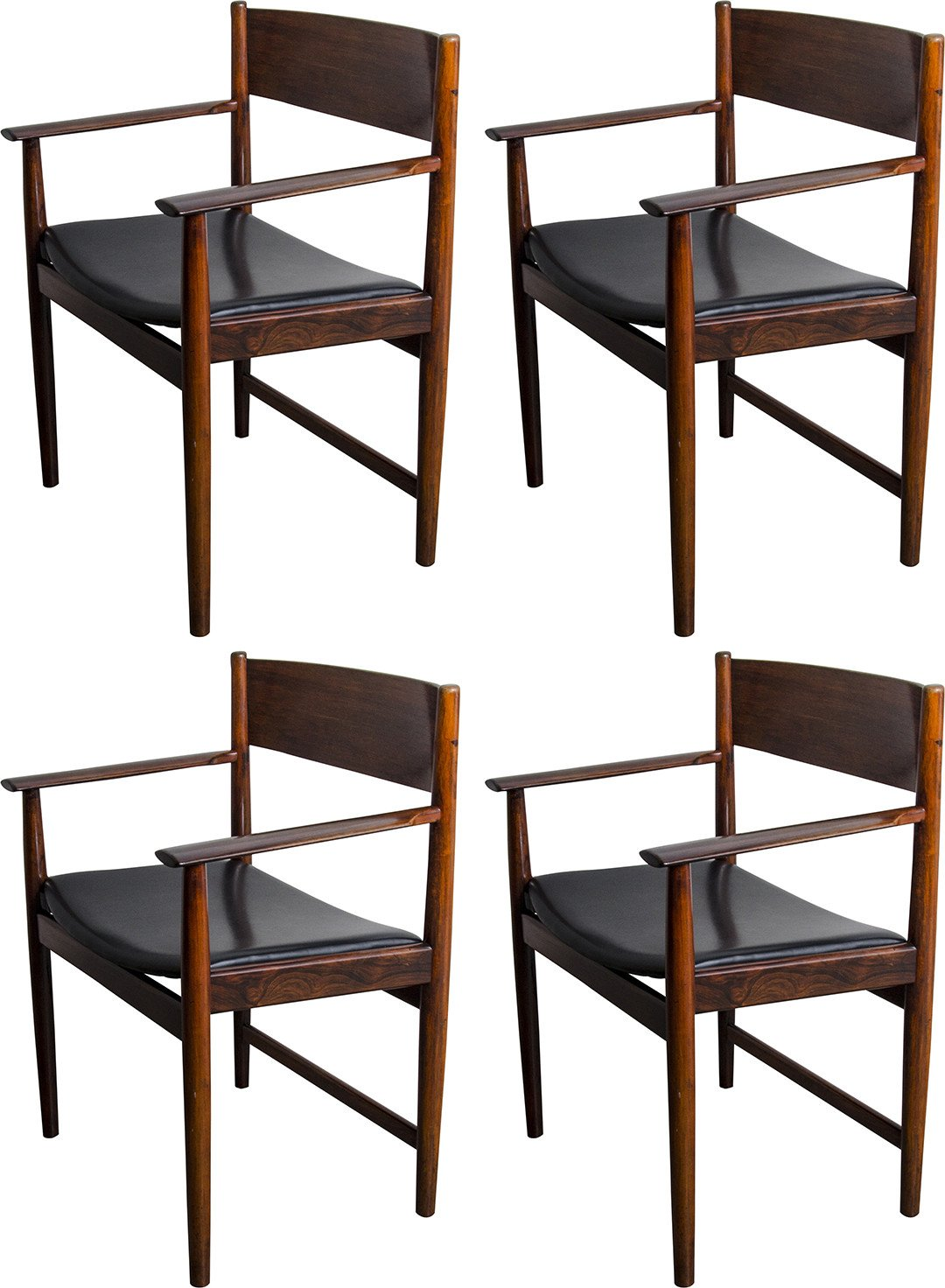 Set of Four Chairs by A. Vodder, Sibast, Denmark, 1960s