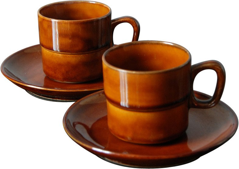 Pair of Coffee Cups, Tułowice, Poland, 1970s