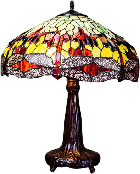 Tiffany Style Stained Glass Lamp, 1960s
