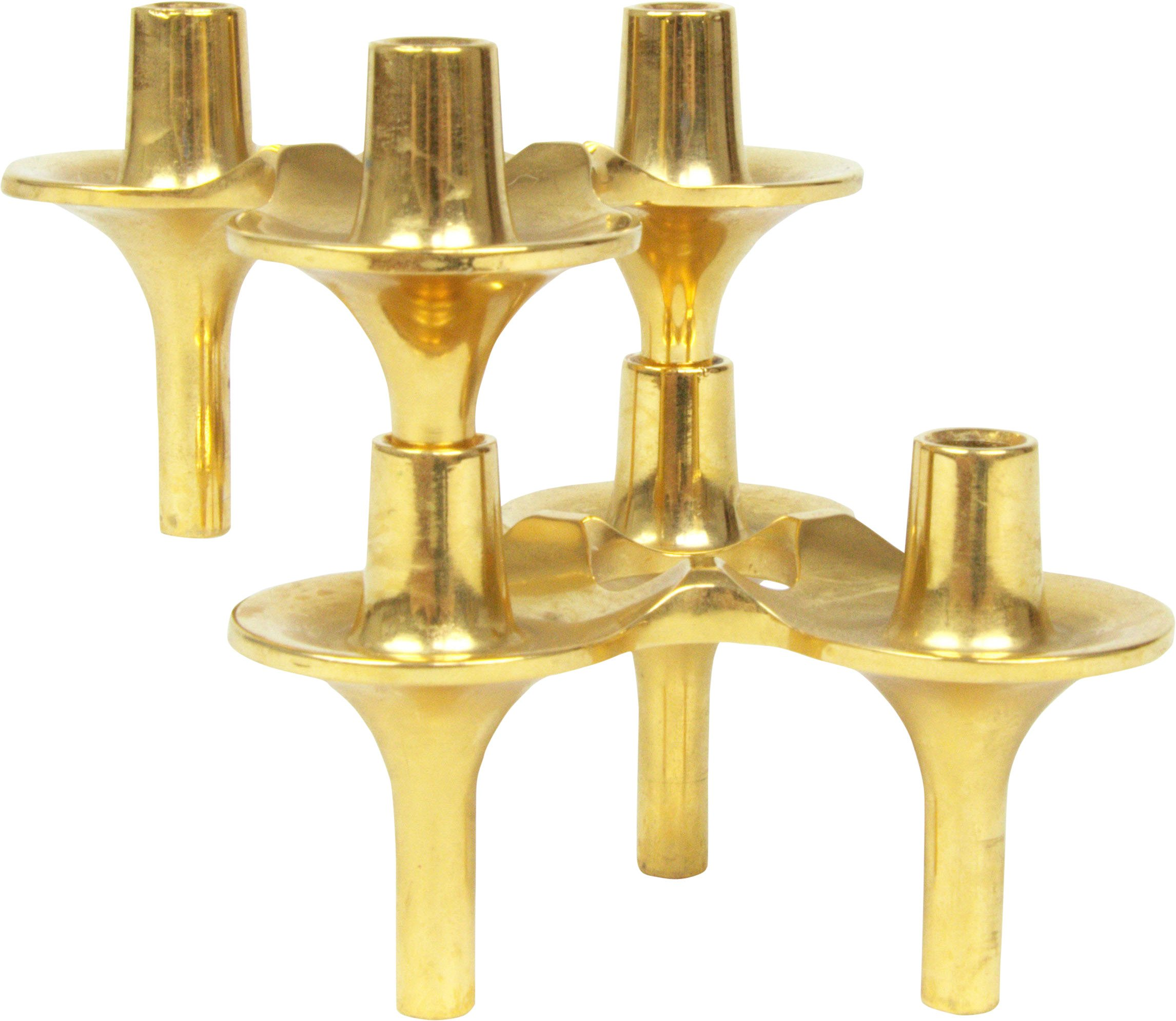 Pair of Candleholders by W. Stoff i H. Nagel, Stoff, 1970s