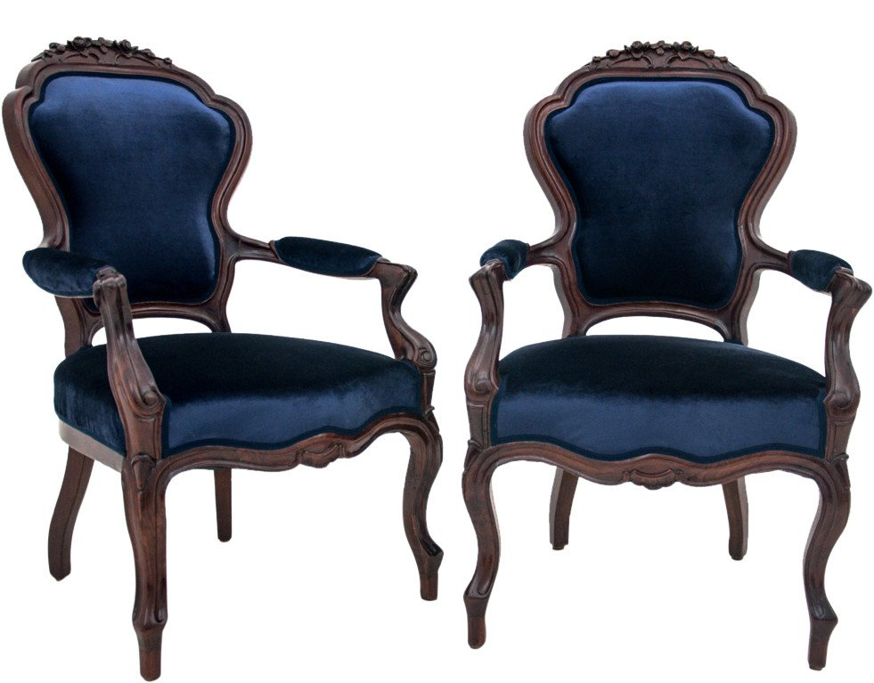 Pair of Armchair, early 20th C.