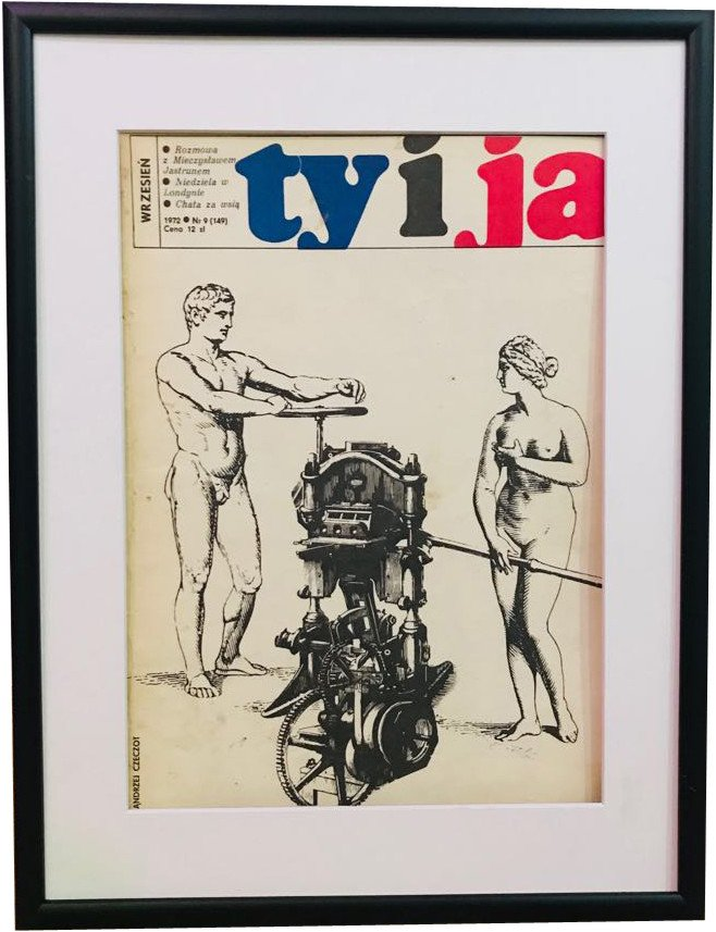 Framed Cover of Ty i Ja Magazine, 1970s