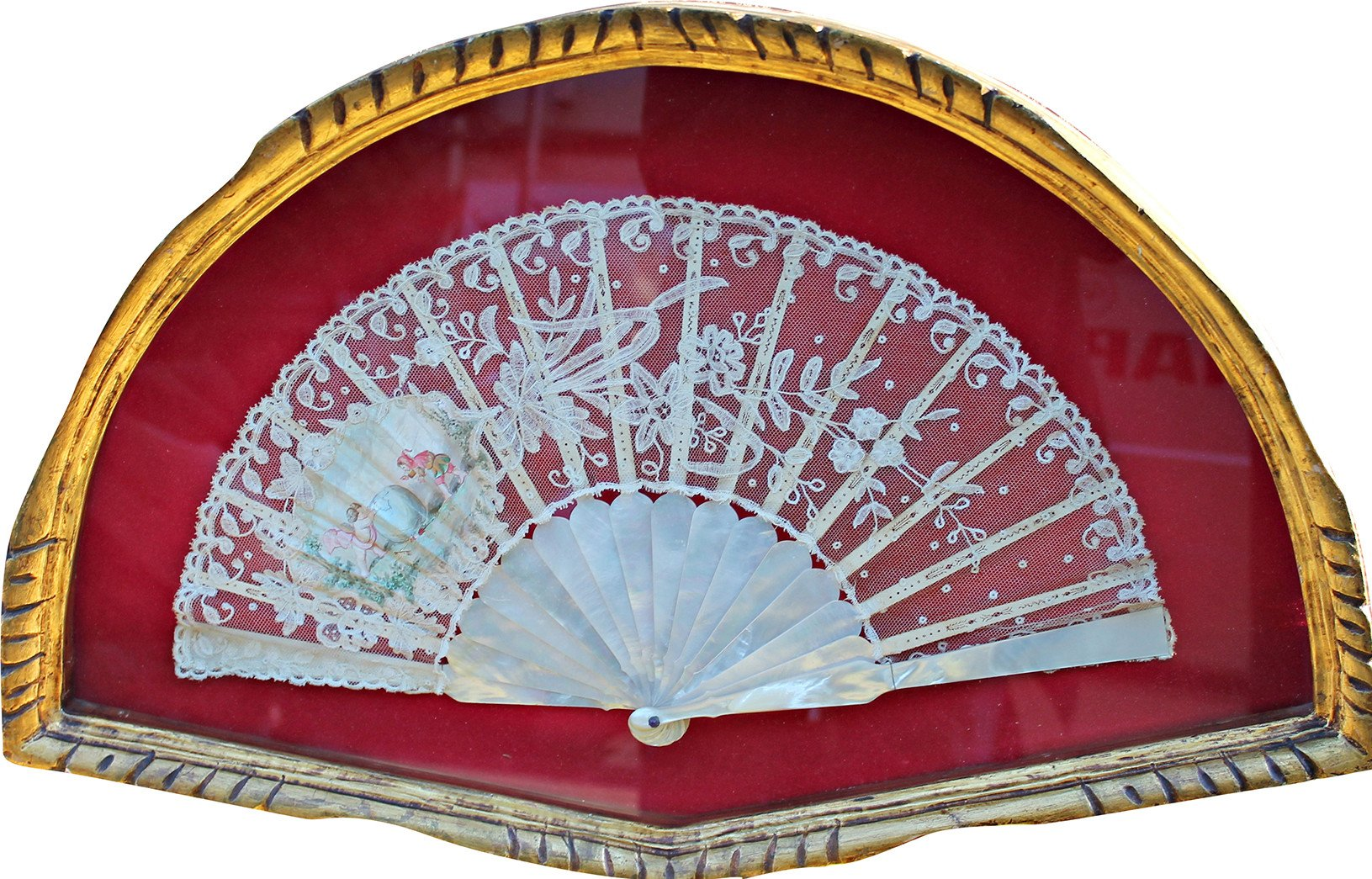 Nacre Fan, England, early 20th C.