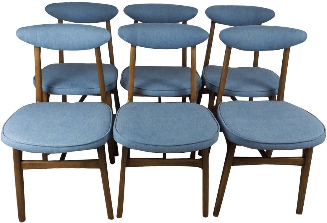 Set of Six Chairs by R. T. Hałas, Poland, 1960s