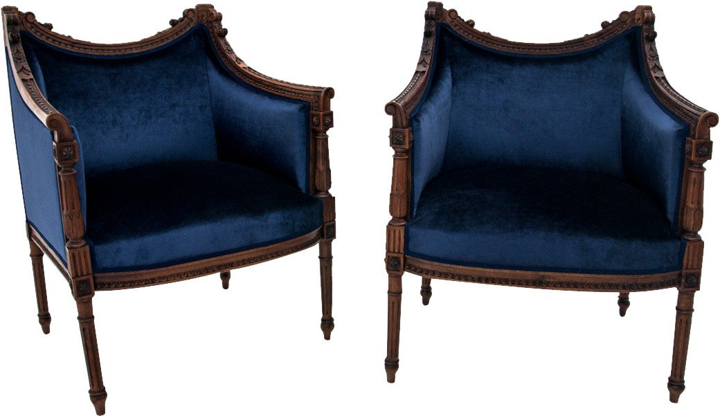 Pair of Armchairs,19th C.