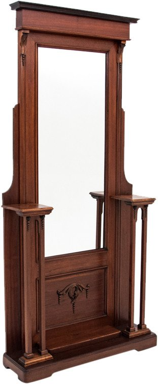 Coat Rack with Mirror, early 20th C.