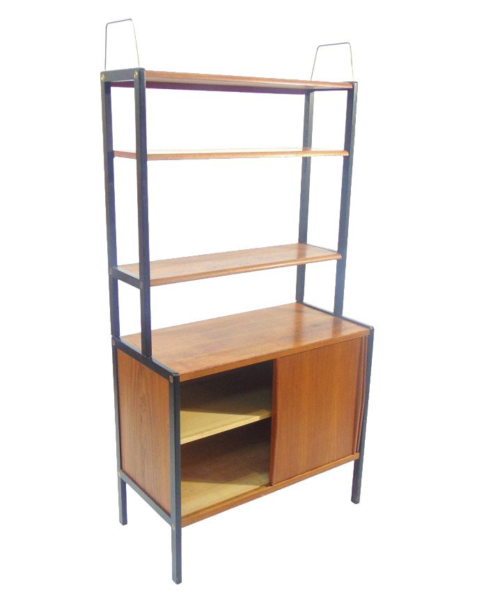 Bookcase with Cabinet by B. Fridhagen, Bodafors, Sweden, 1950s