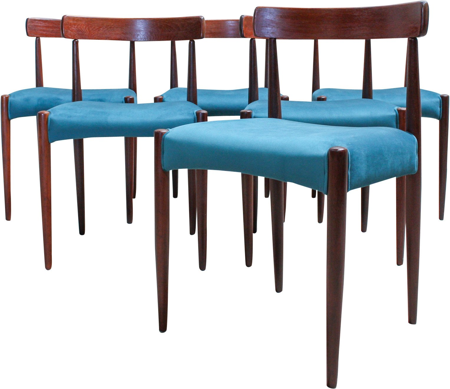 Set of Six Chairs by M. Kold, 1960s