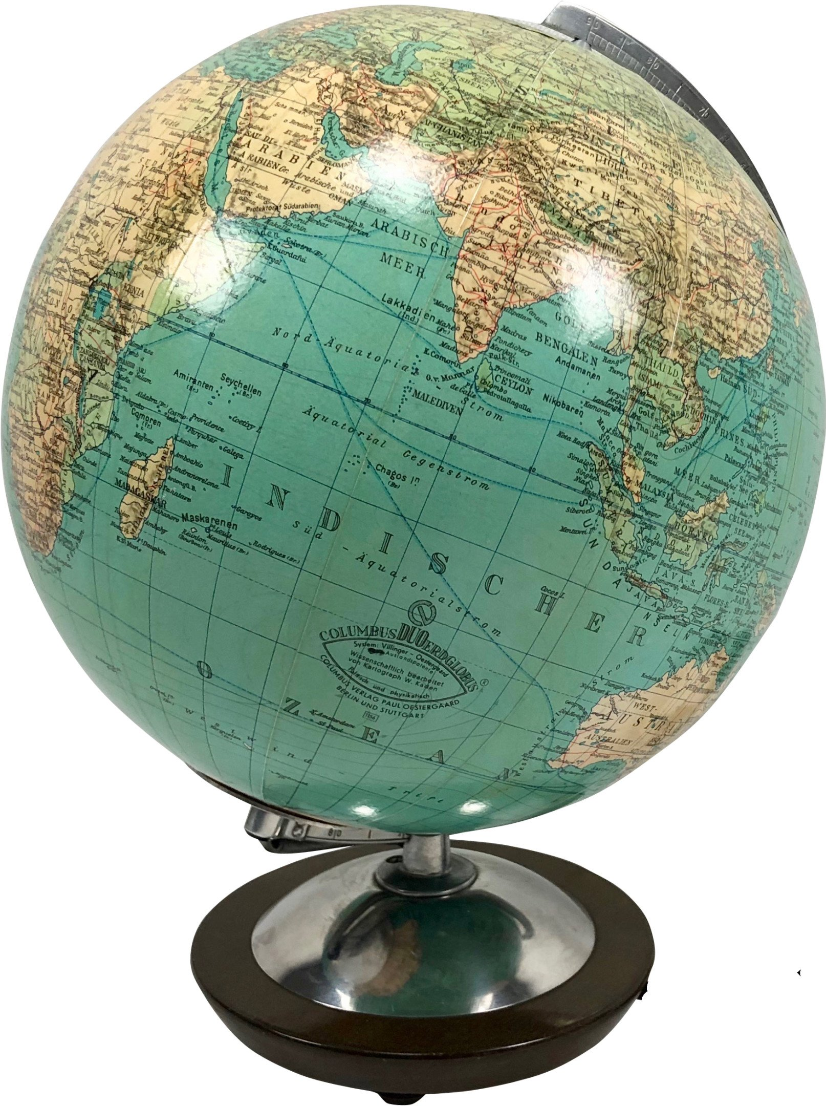 Glass Globe, Columbus Duo, Germany, 1970s
