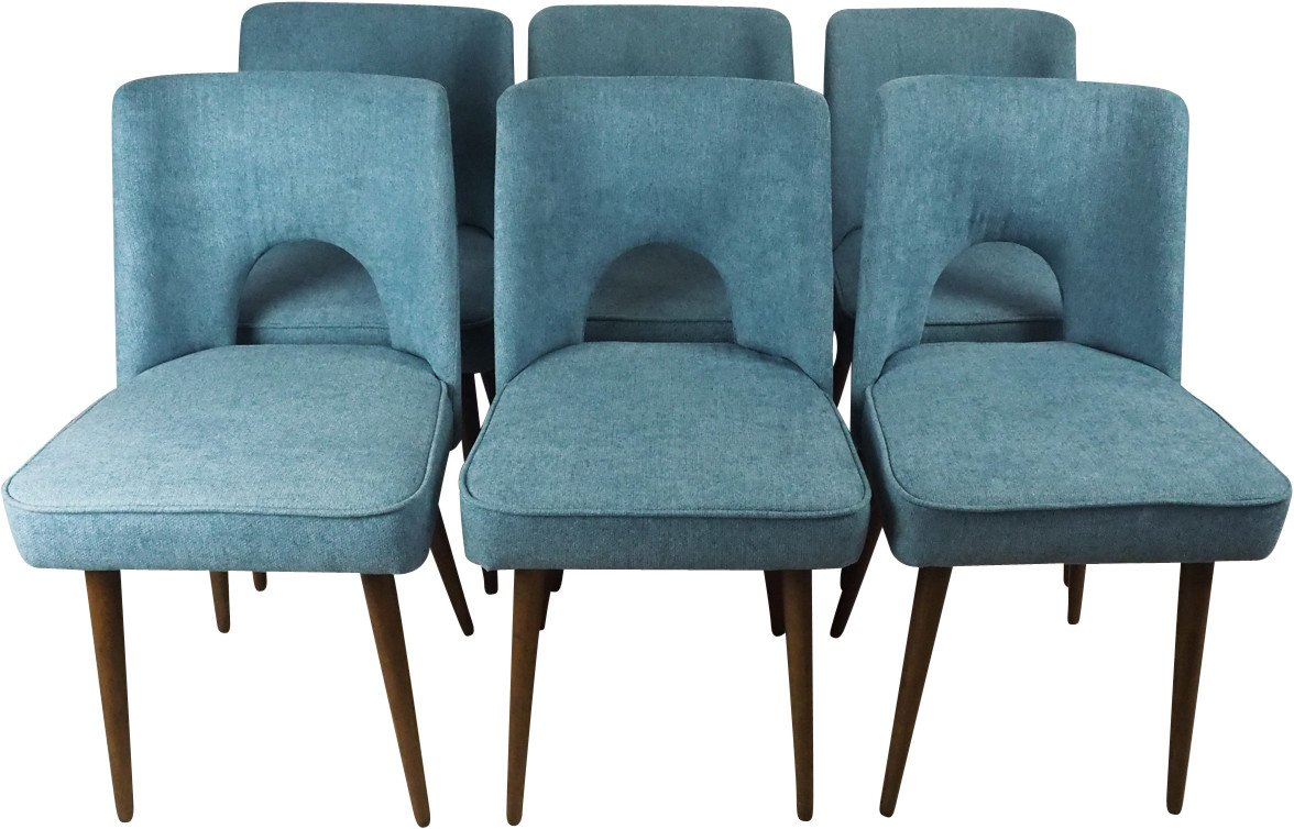 Set of sSx Chairs, Bydgoszcz Furniture Factory, Poland, 1960s