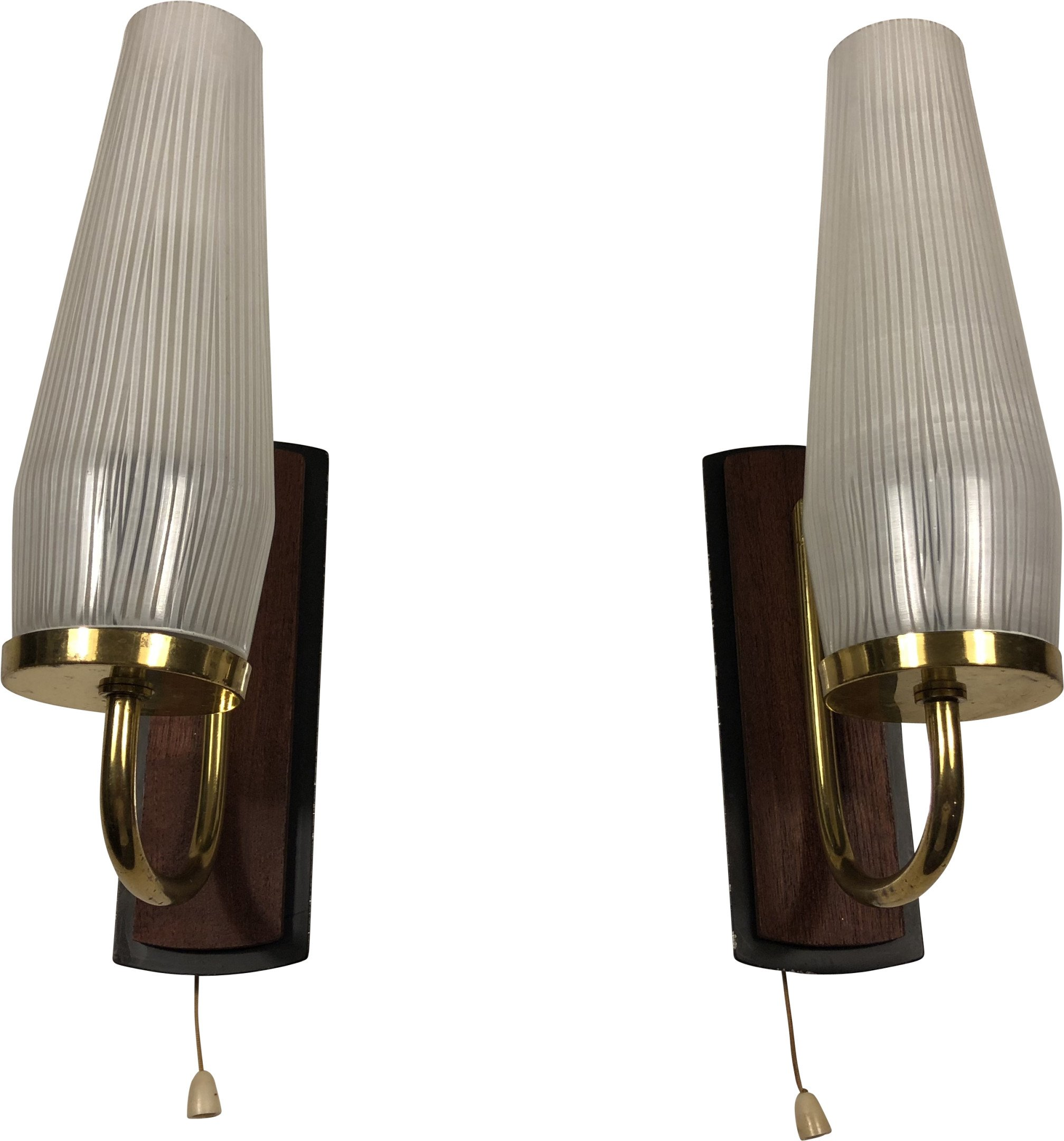 Pair of Rockabilly-Style Sconces, Germany, 1960s