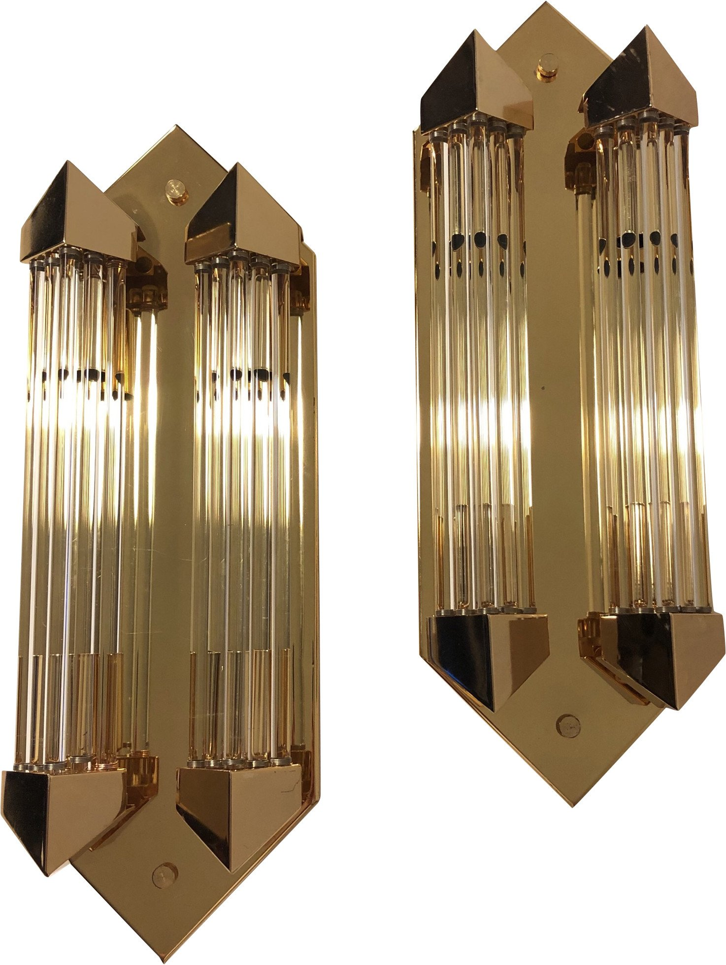 Pair of Wall Lamps, Germany, 1980s