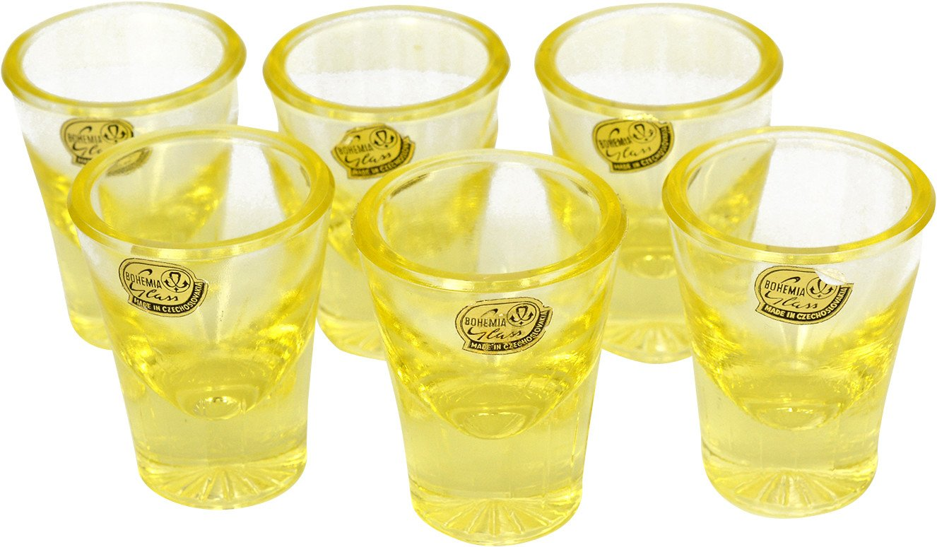 Set of Six Glasses, Sklo Union Rudolfova Sklarna, Czechoslovakia, 1960s