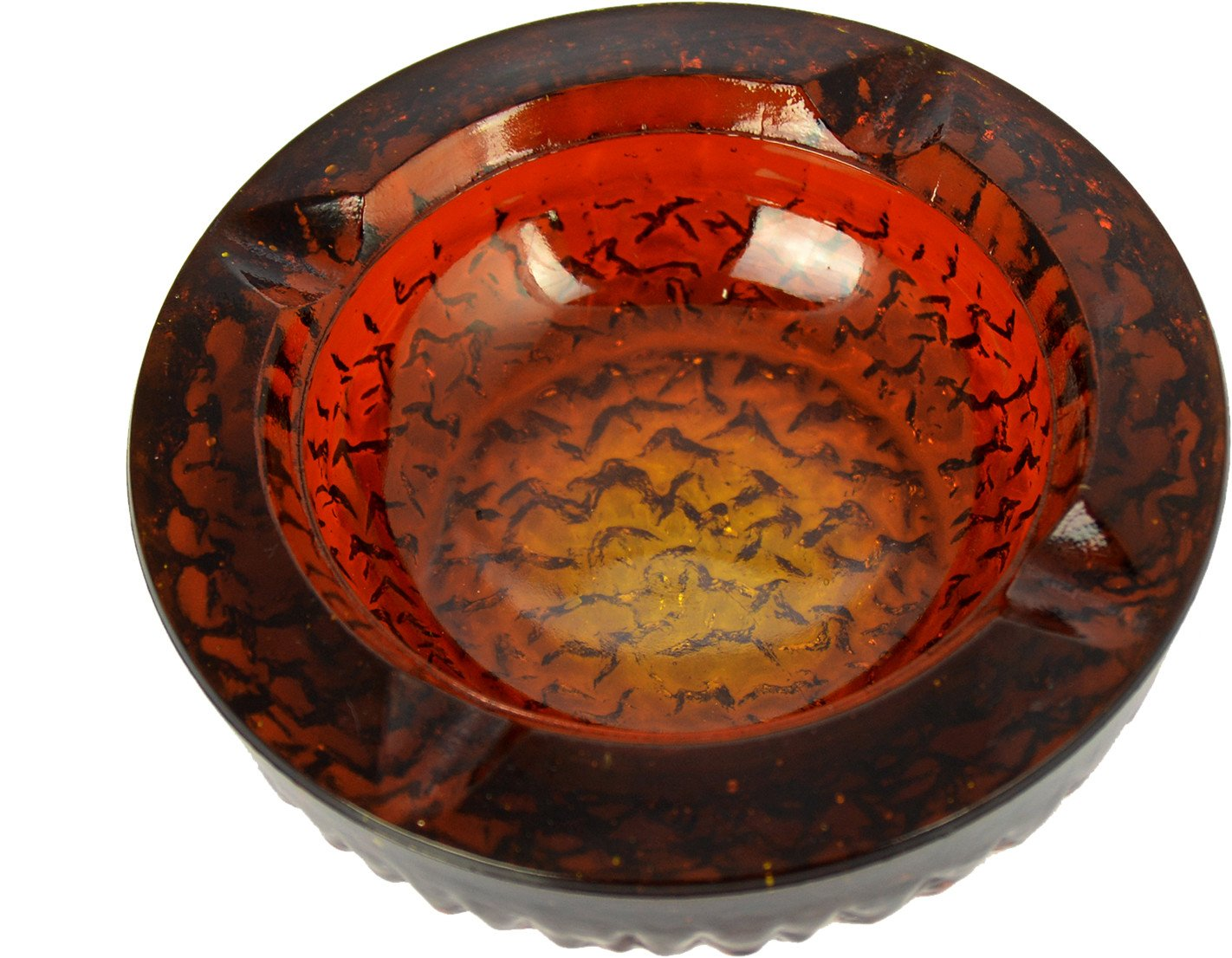 Glass Ashtray by R. Jurnikl for Rudolfova Sklarna, Czechoslovakia, 1960s