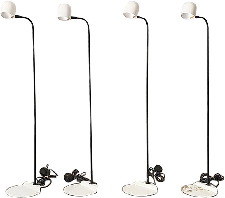 Set of 4 floor lamps, Fagerhults, Denmark, 70's.