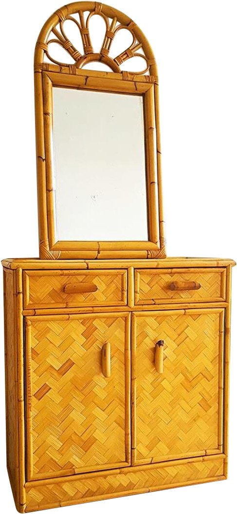 Bamboo Chest of Drawers, 1970s