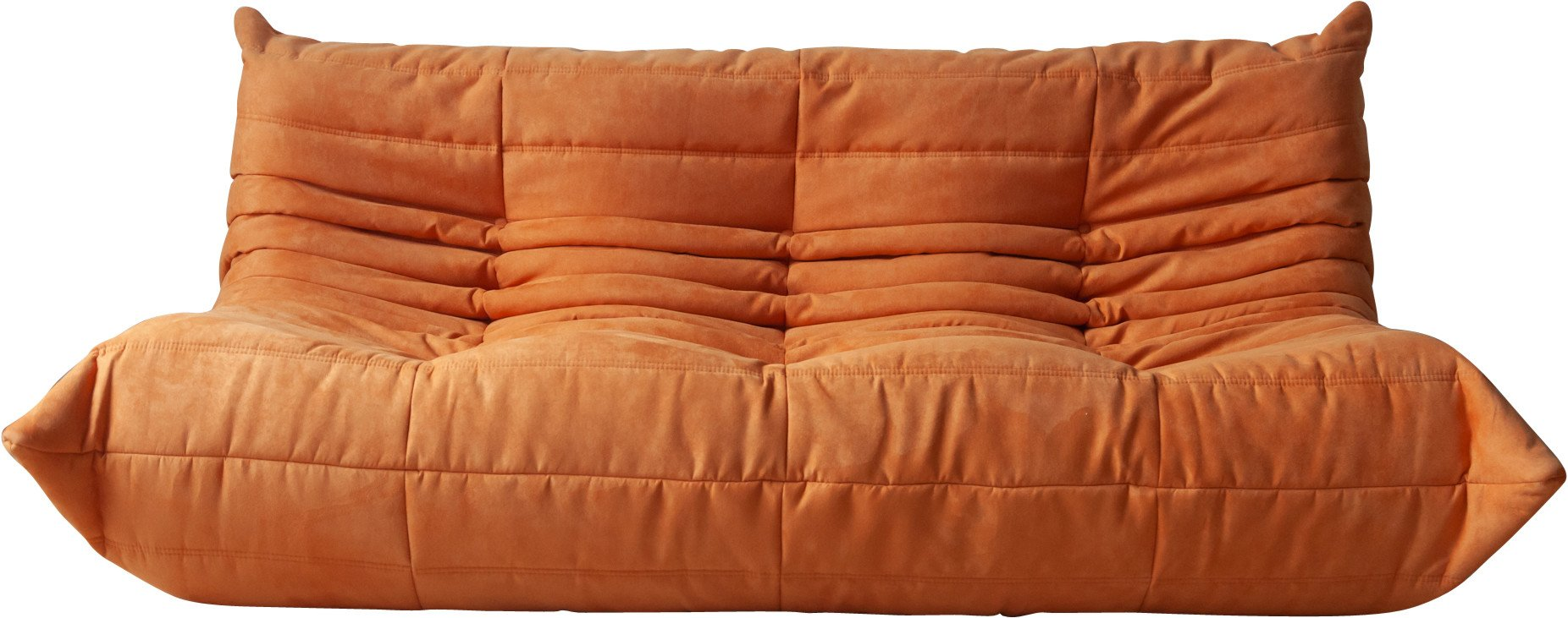 Sofa in Orange Microfiber by M. Ducaroy, Ligne Roset, France, 1970s