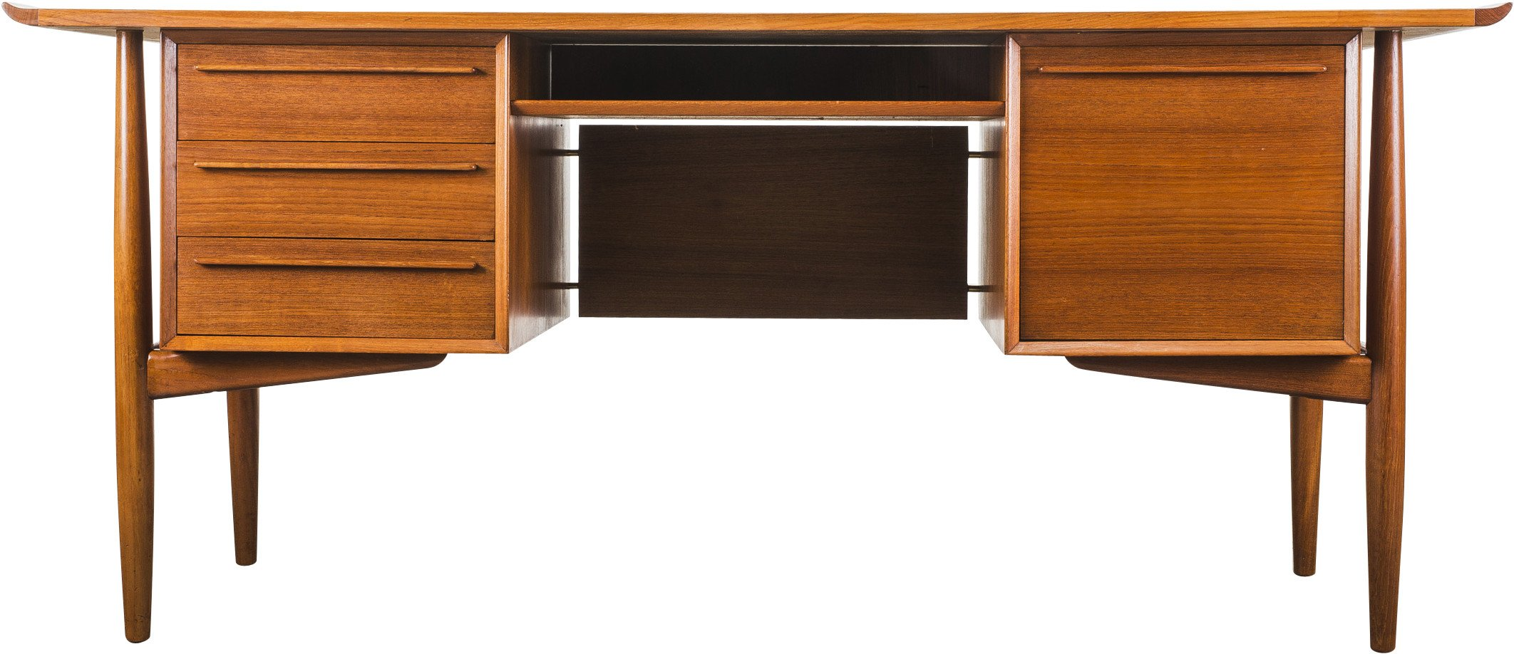 Desk by A. Vodder for H.P. Hansen, Denmark, 1960s