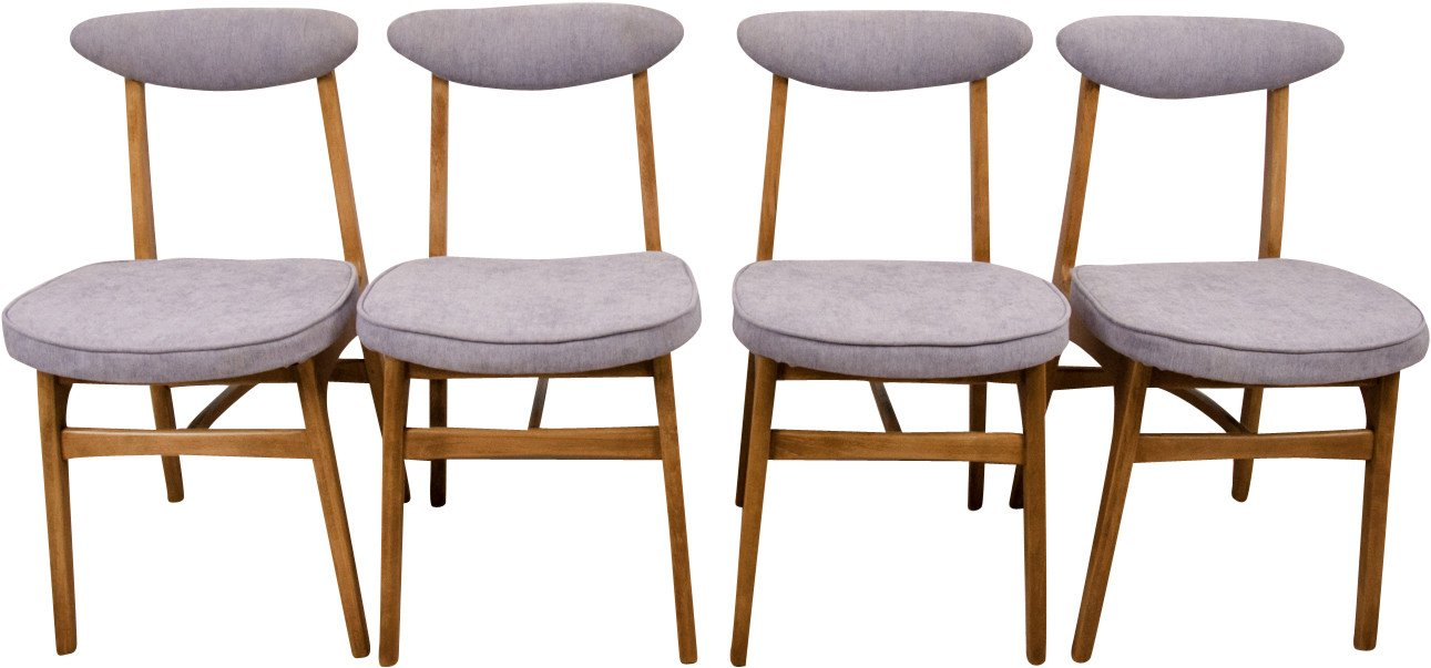 Set of Four Chairs by R. T. Hałas, Poland, 1960s