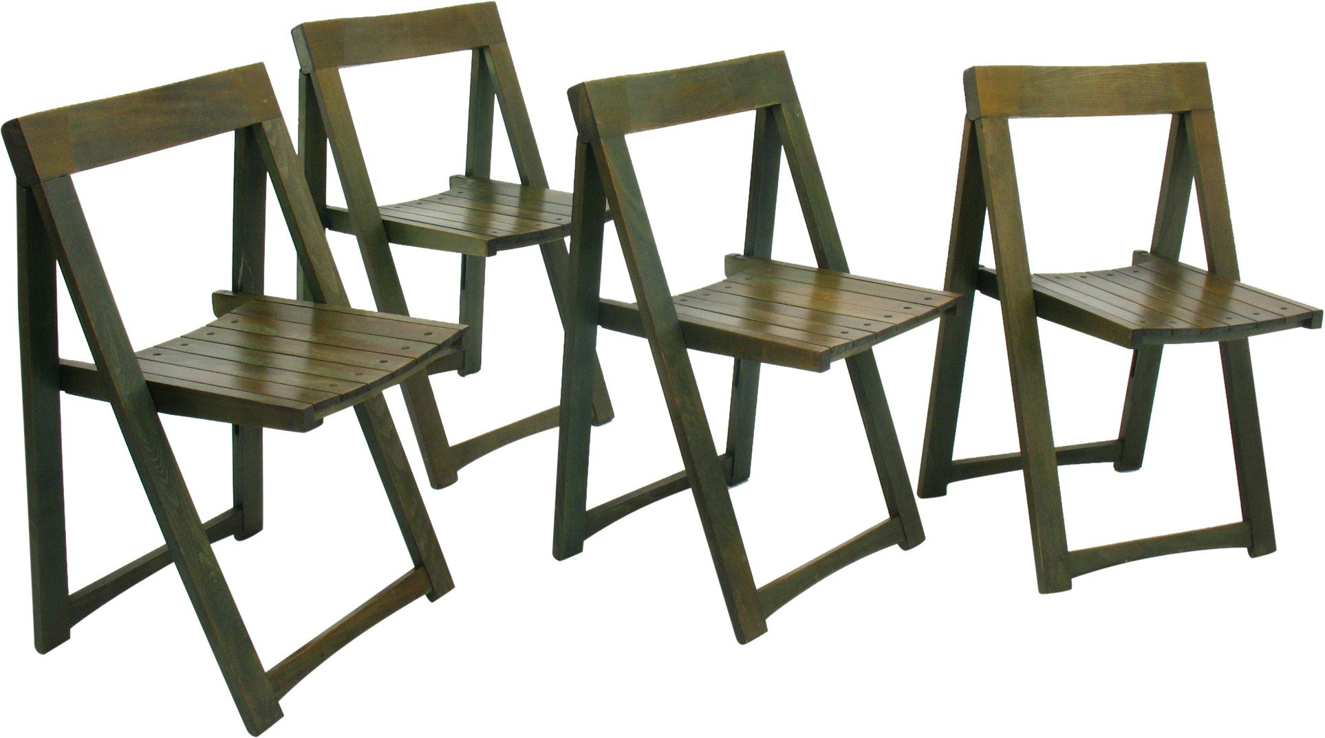 Set of Four Folding Chairs, 1980s