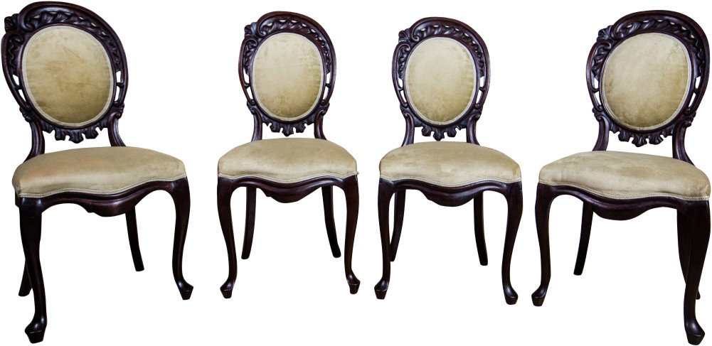 Set of Four Louis Philippe Style Chairs, 19th C.