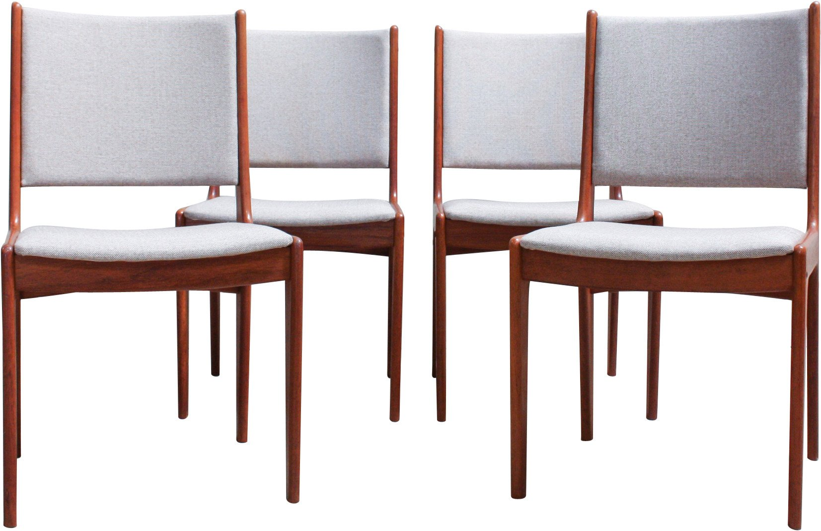 Set of Four Dining Chairs by J. Andersen for Uldum Møbelfabrik, 1960s