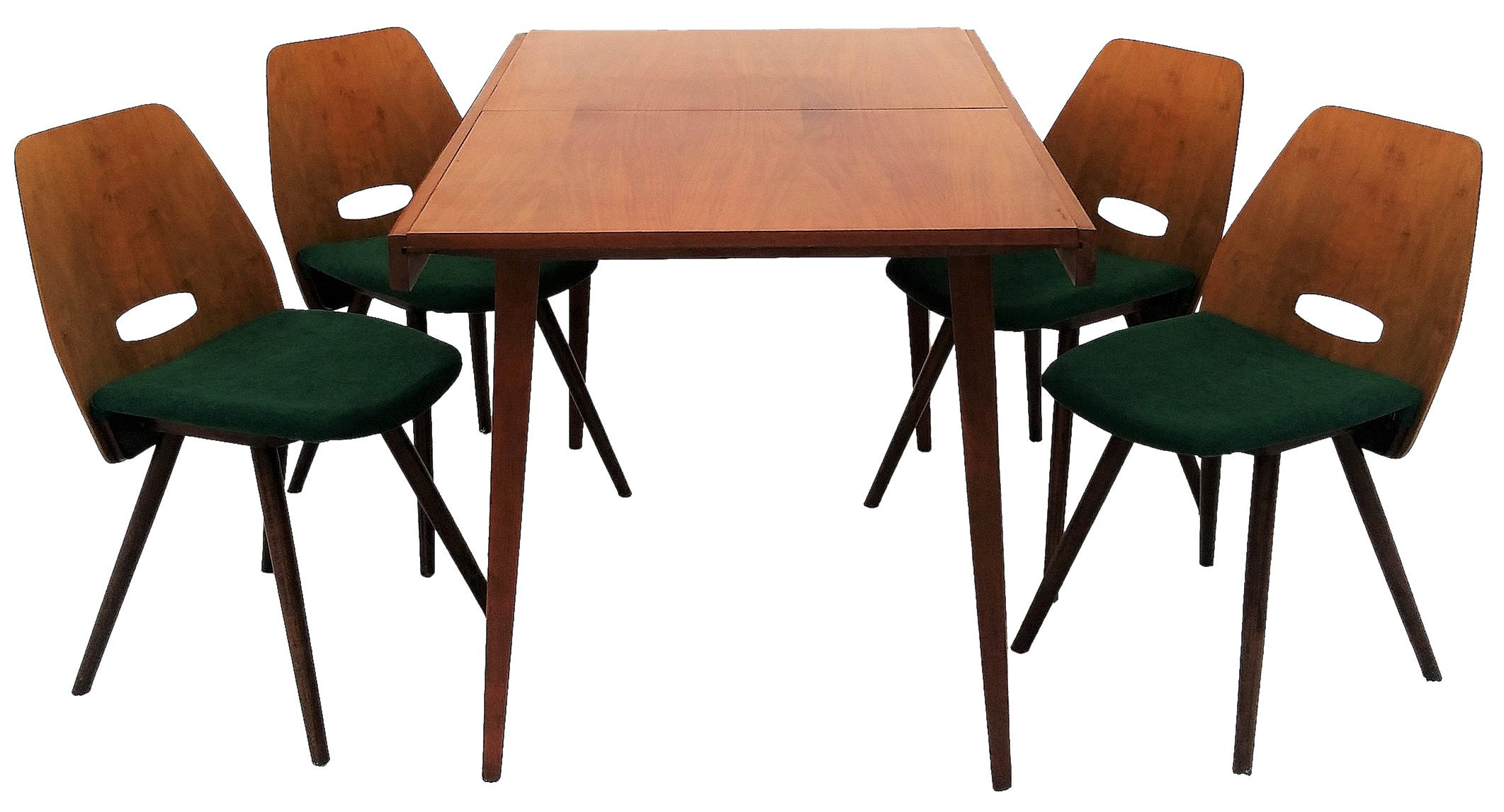Set of Four Chairs and Table, Tatra Nabytok, Czechoslovakia, 1960s