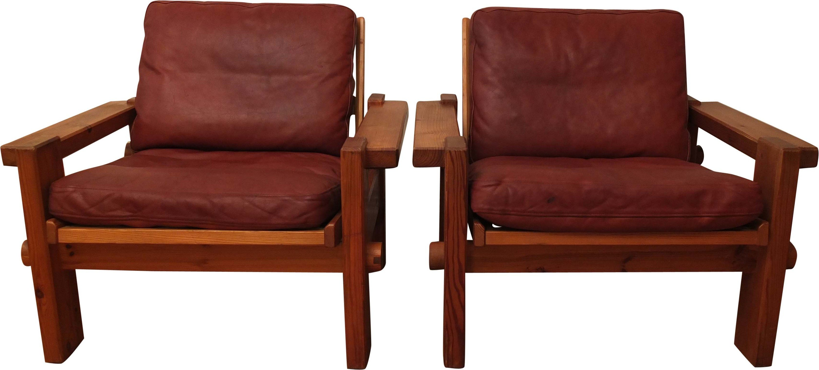 Pair of Kontrapunkt Club Chairs by Y. Ekstrom for Swedese, 1970s