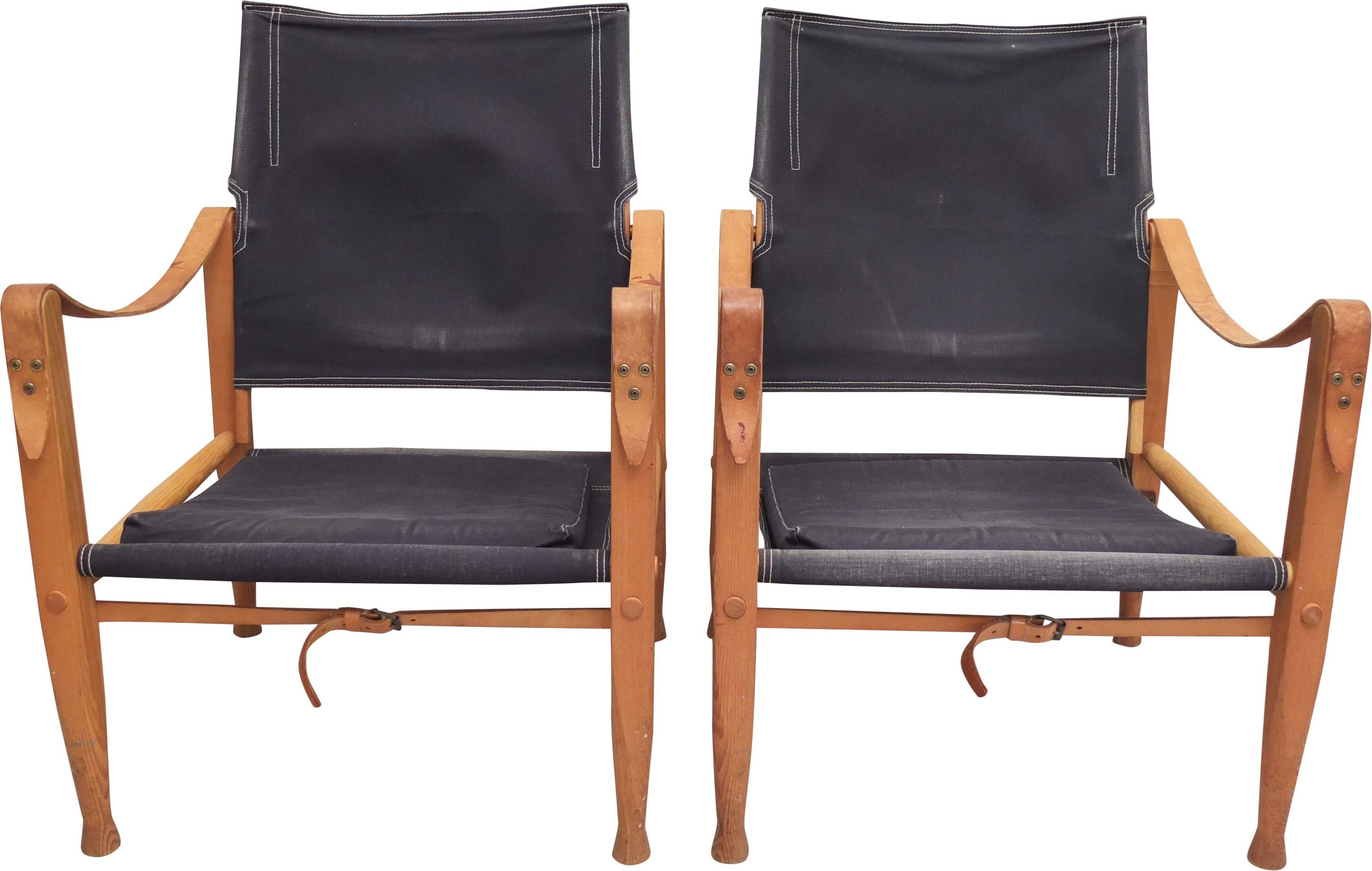 Pair of Armchairs by K. Klint for Rud Rassmusen, Denmark, 1950s