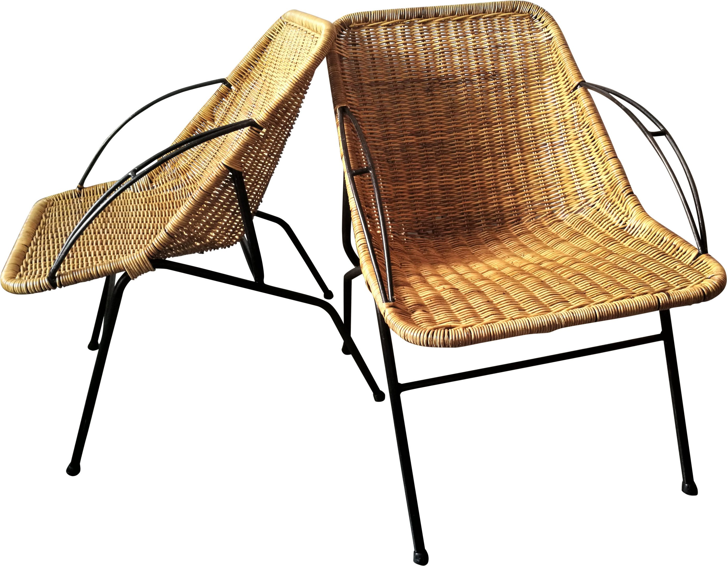 Pair of Wicker Chairs, 1970s