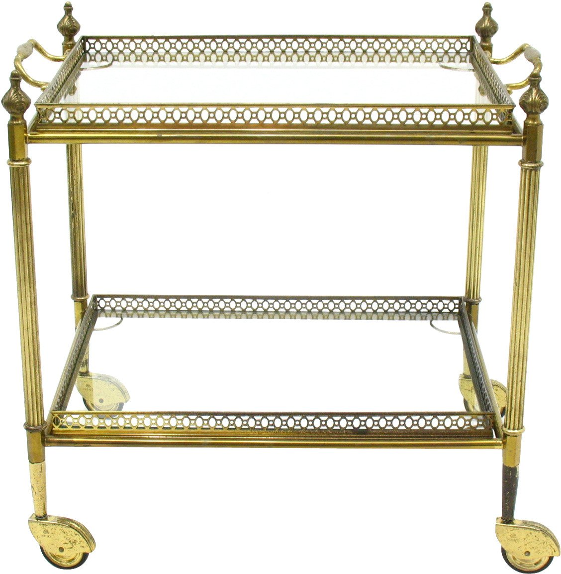Brass bar trolley, Italy, 1960s.