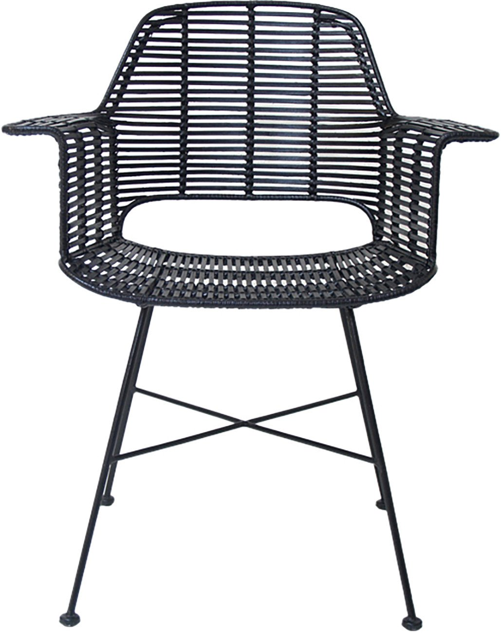 Black Rattan Tub Chair, HKliving