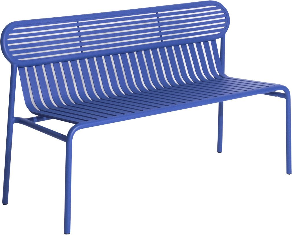 Blue Week-end Bench by Brichet-Ziegler for Petite Friture