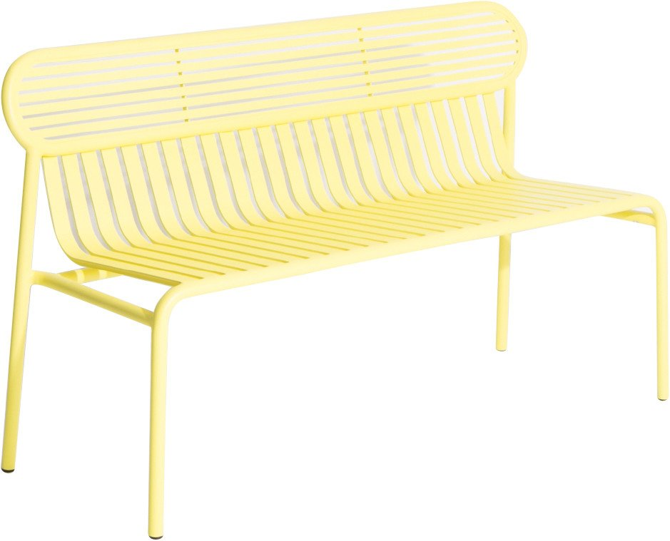 Yellow Week-end Bench by Brichet-Ziegler for Petite Friture