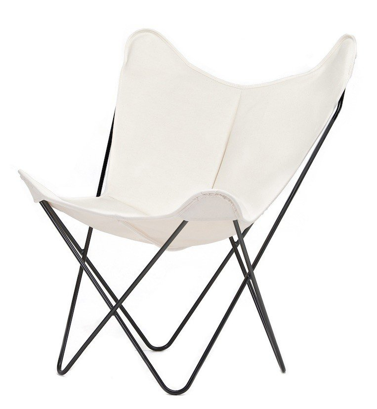 BKF Chair, White Canvas, Isist, Barcelona