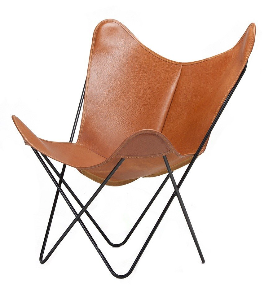 BKF Chair, Natural Soft Leather, Isist, Barcelona