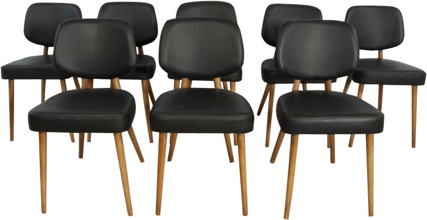 Set of Eight Chairs, Germany, 1970s