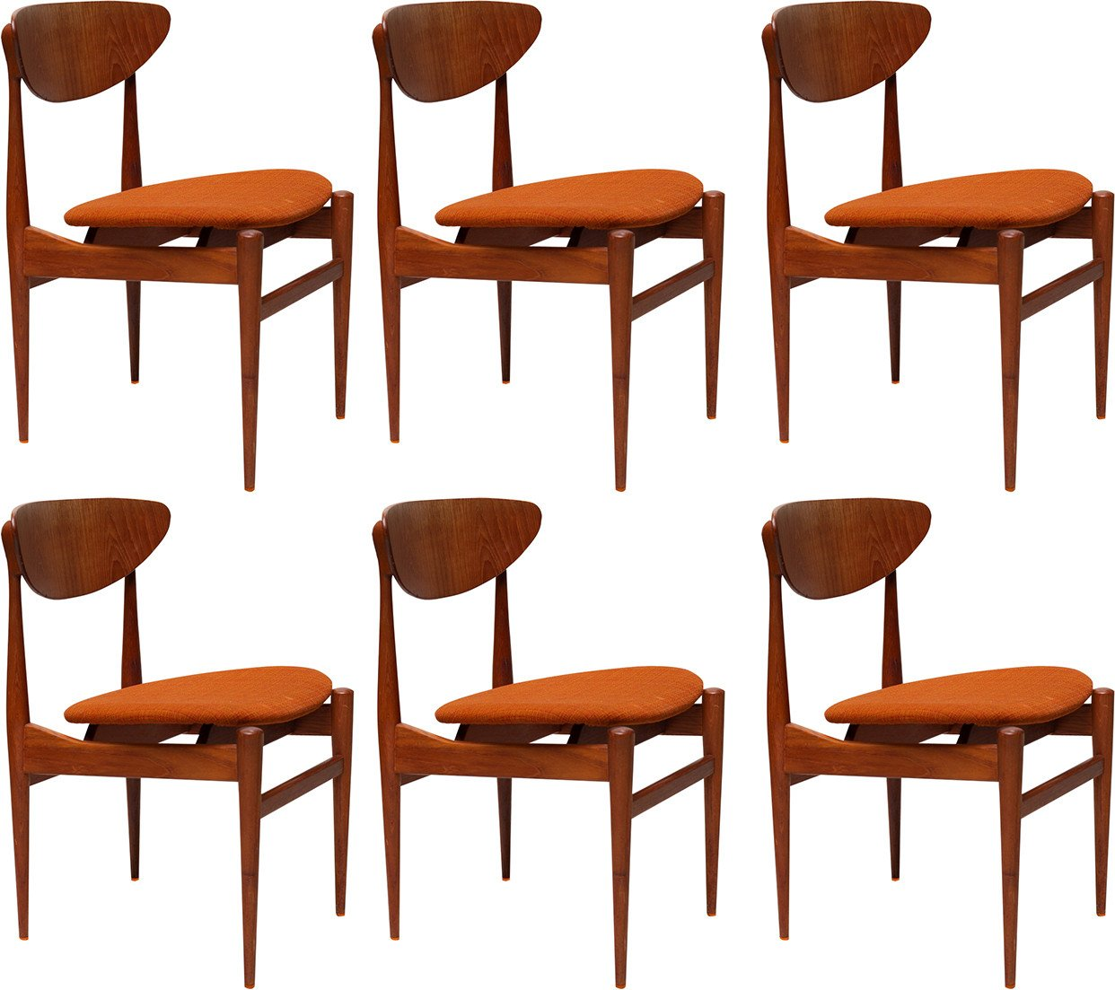 Set of Six Chairs, Denmark, 1970s