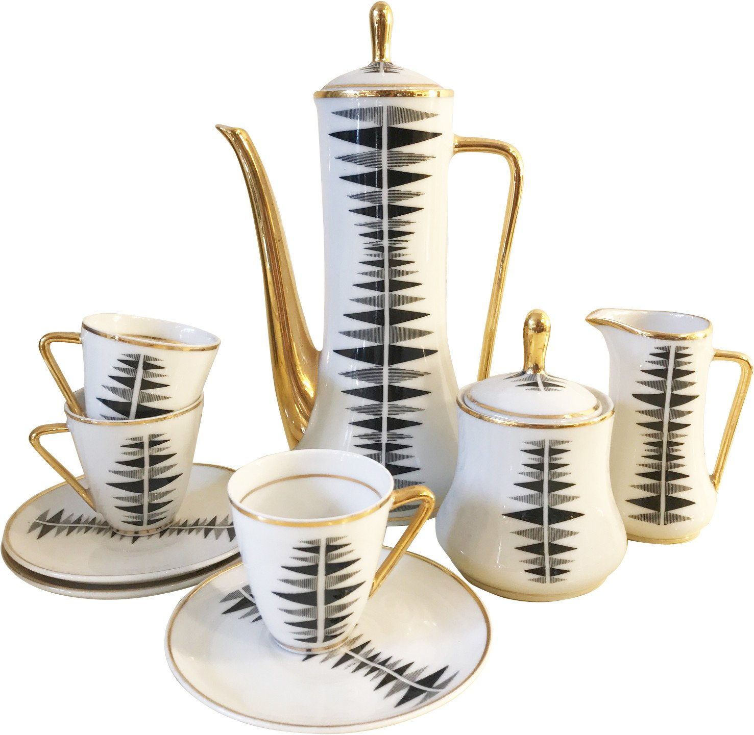 Porcelain Coffee Set, 1950s