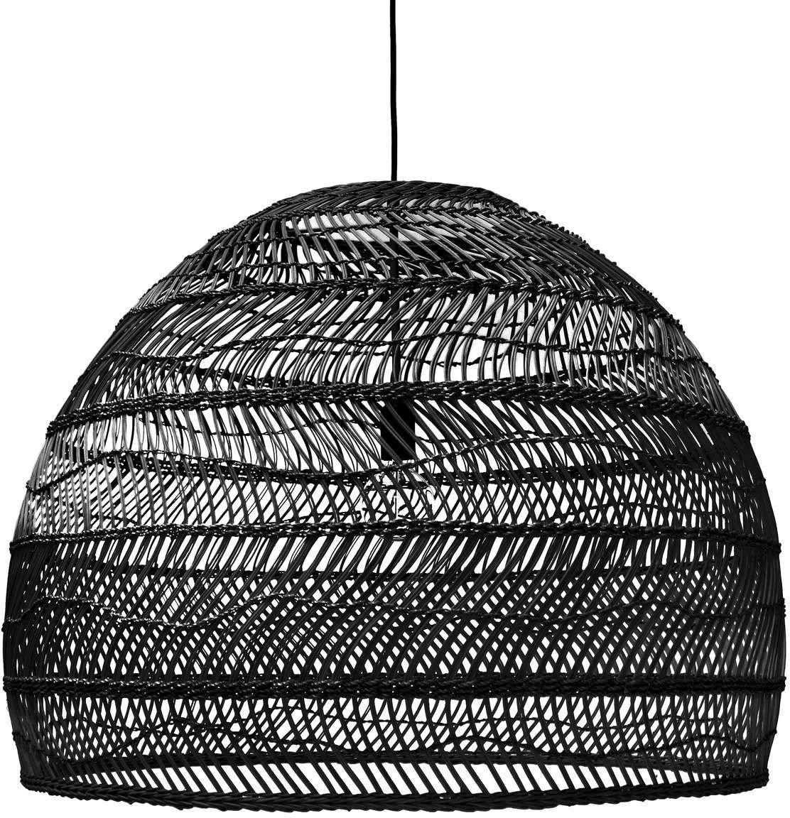 Large Wicker Pendant Lamp, HKliving