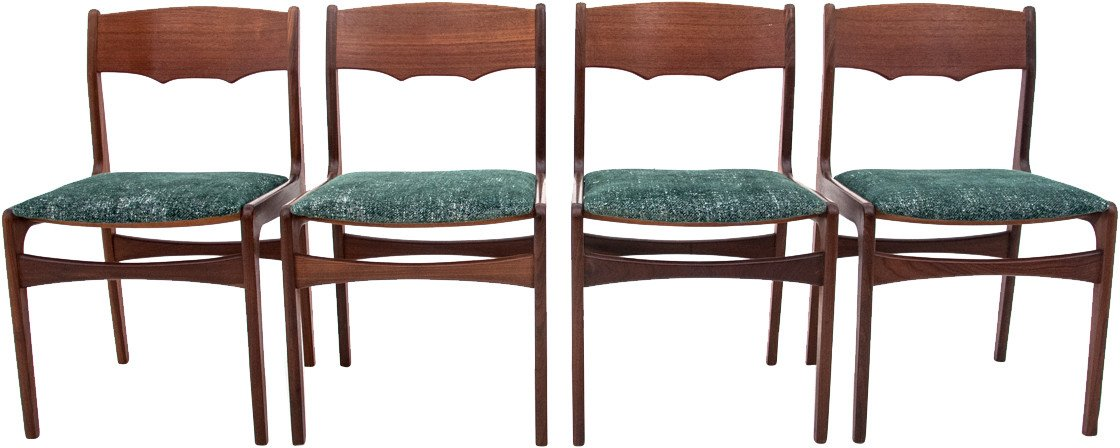 Set of Four Chairs, Denmark, 1950s