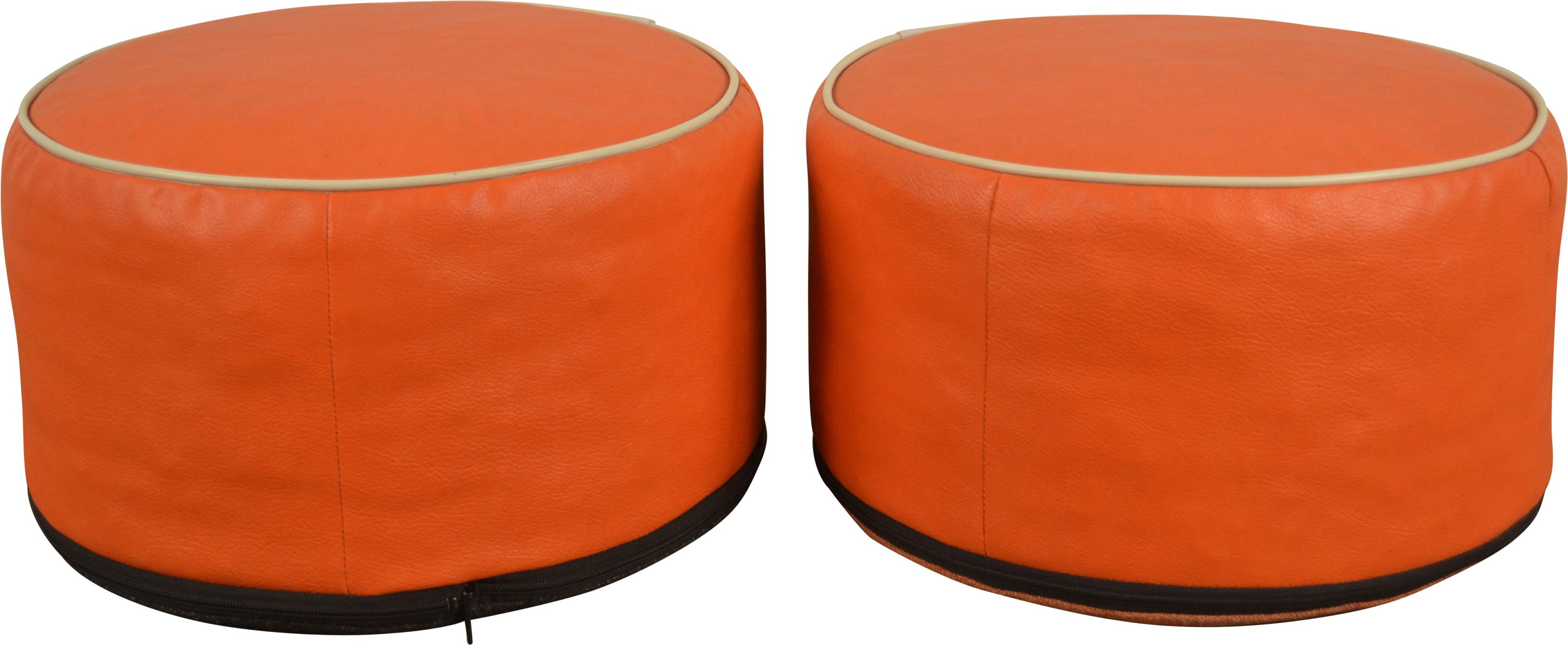 Pair of Pouf, Netherlands,  1970s