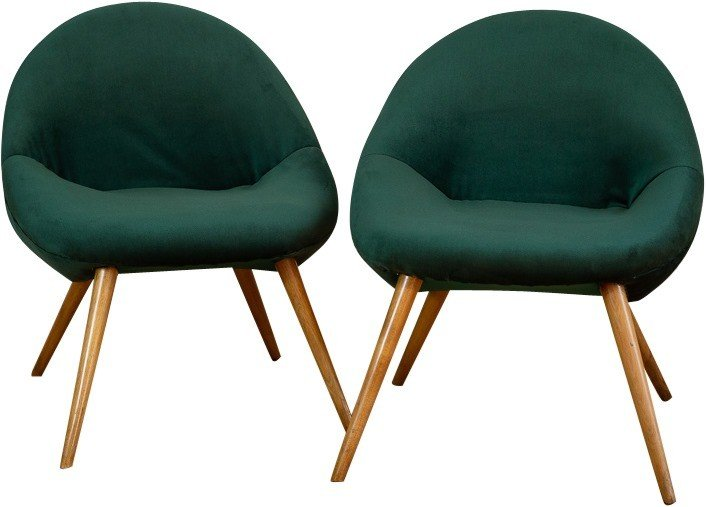 Pair of armchairs, Poland, 1960s.