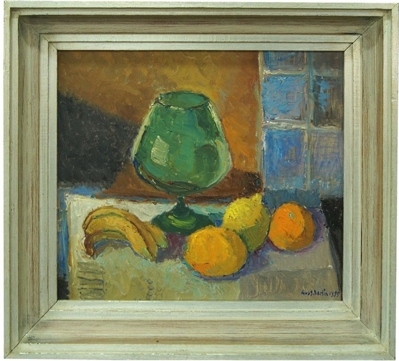 Oil Painting Still Life by G. Berlin, Sweden, 1954