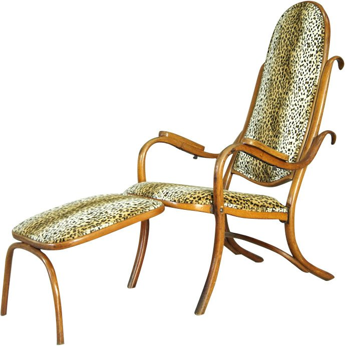 Armchair with footstool by M. Thonet, Thonet, Austria, 1920s